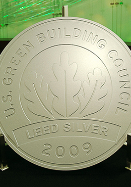 Silver certification for commercial interiors